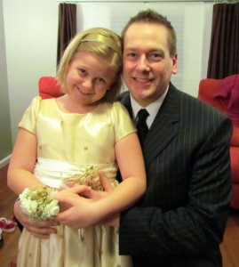 Me and my lovely daughter Emily posing before our night of dancing