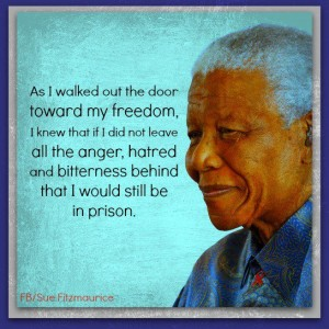 Nelson Mandela Quote - Bitterness to Freedom