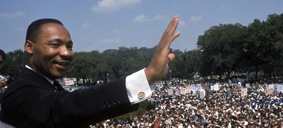 MLK Waving in Color