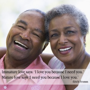 Immature Love - Mature Love - Erich Fromm Quote